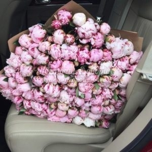 "Букет ""Tenderness"" (101 розовый пион)"