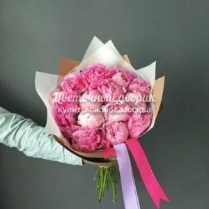 """Букет """"Fragrant Beauty-2"""" (15 розовых пионов, Италия)"""