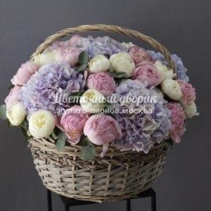 """Корзина """"White and Rose"""""""