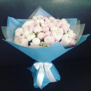 "Букет ""Gardenia Dream"" (51 пион Гардения, Италия)"